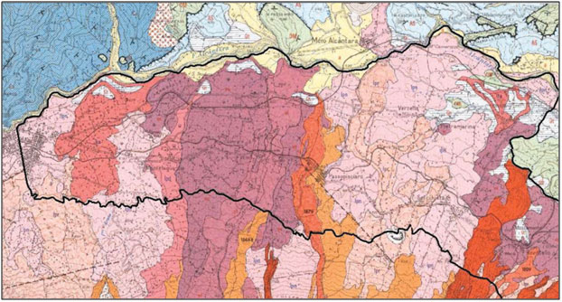 mapa geológico vinos etna doc